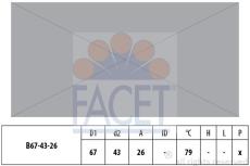 FACET Termostat, kølemiddel EPS 1.880.578S
