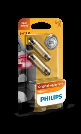 Philips Standard 12V 10Watt SV8,5 2stk