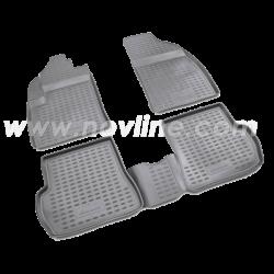 Bundmåtter af gummi til Ford Fiesta 2008-2012