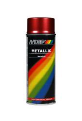 Rød metallic effekt spraymaling Motip Lak 04045 400ML