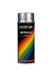 Sølv metallic effekt spraymaling Motip Lak 04046 400ML