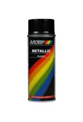 Sort metallic effekt spraymaling Motip Lak 04049 400ML