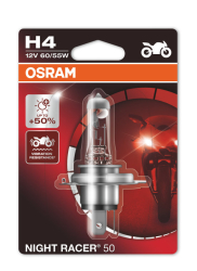 Osram Night racer 50 H4 MC pære