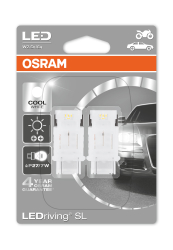Osram LEDriving SL 12 V P27 7W Cool Hvid 6000K 2 stk