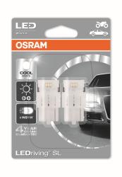 Osram LEDriving 12 V W21W T20 S Cool Hvid 6000K 2 stk