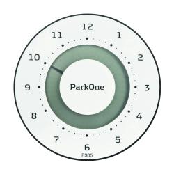 ParkOne elektronisk parkeringsskive - FSO5 Hvid