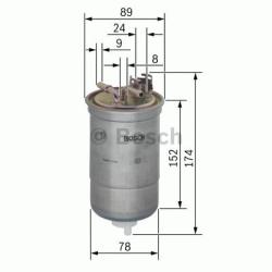 N6322 Brændstoffilter Bosch