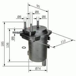 N7008 Brændstoffilter Bosch