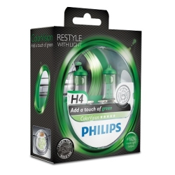 Philips ColorVision H4 Green 2stk