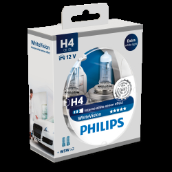 Philips WhiteVision H4 + W5W 2 2 stk