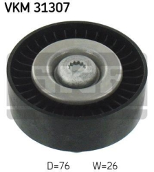 SKF Medløberhjul multi-V-rem VKM31307