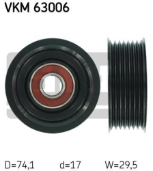 SKF Medløberhjul multi-V-rem VKM63006