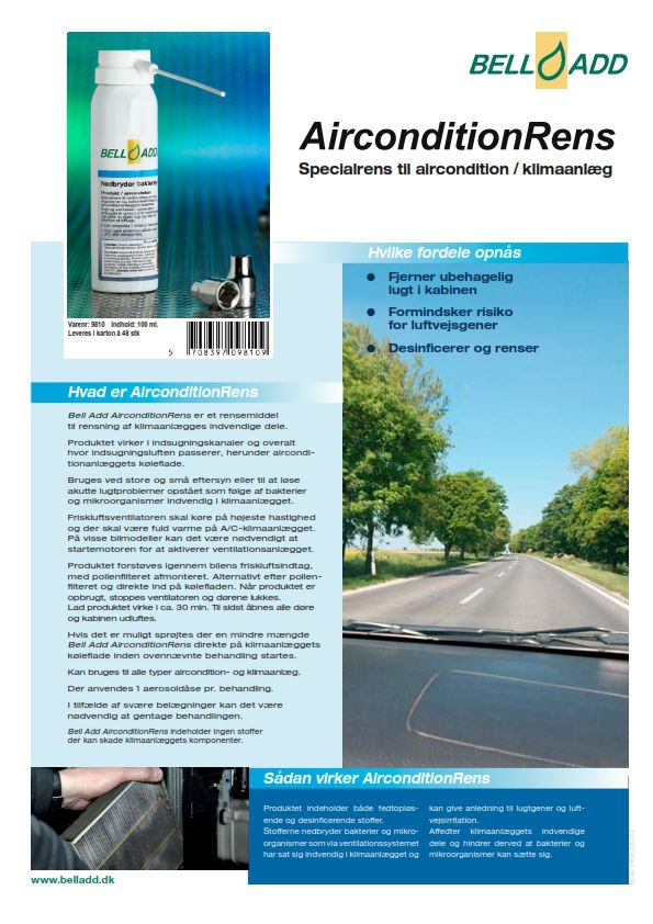 Instruktion Bell add Aircondition Rens