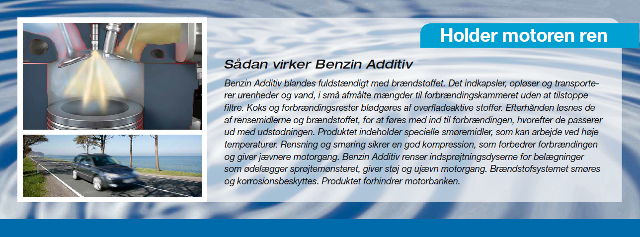 Instruktion i Bell add benzin additiv