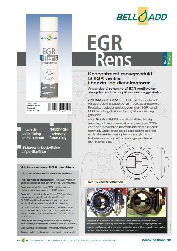 Instruktion bell add EGR rens