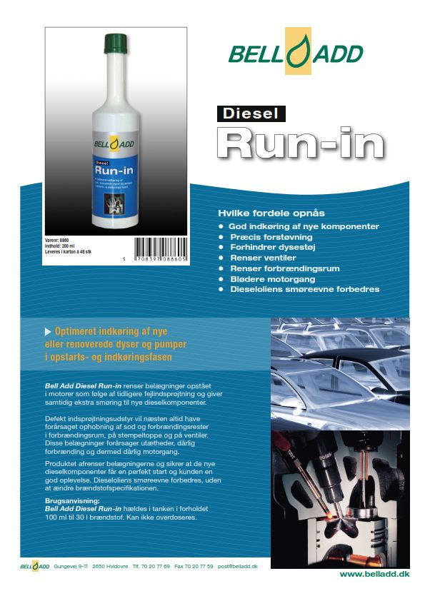 Instruktion Bell add Diesel Run-In